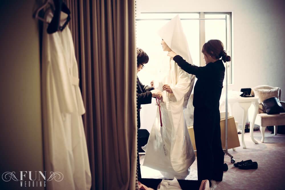 結婚式 白無垢